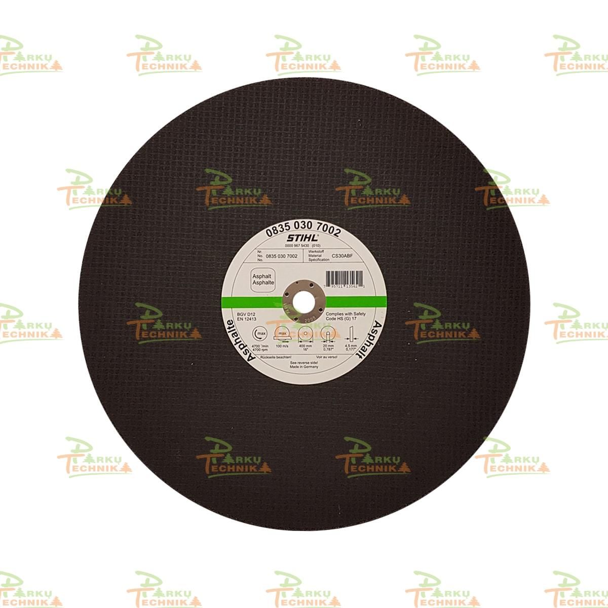Abrazyvinis pjovimo diskas STIHL K-DG (400 mm)