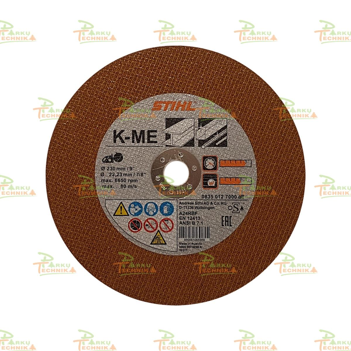 Abrazyvinis pjovimo diskas STIHL K-ME (230 mm)