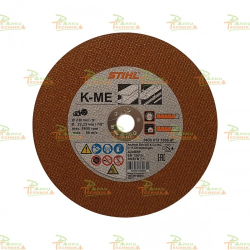 Abrazyvinis metalo pjovimo diskas STIHL K-ME (230 mm)