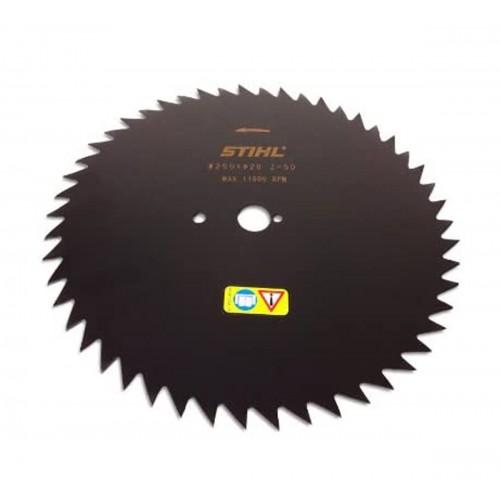Krūmų pjovimo diskas STIHL su smailiais dantimis (250 mm, 50 Z)