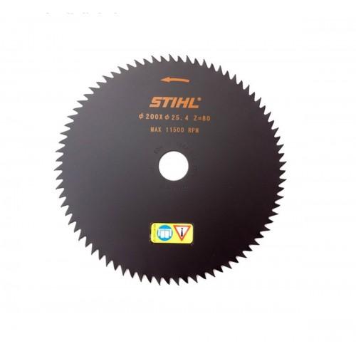 Krūmų pjovimo diskas STIHL su smailiais dantimis (200 mm, 80 Z)