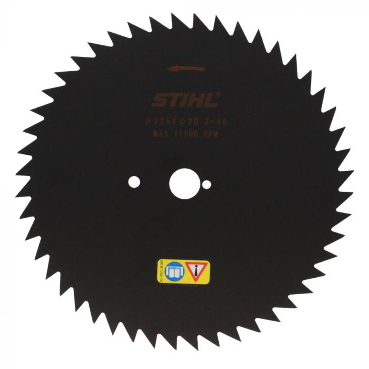 Krūmų pjovimo diskas STIHL su smailiais dantimis (225 mm, 48 Z)