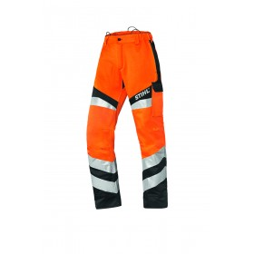 Kelnės apsauginės darbui su krūmapjovėmis didelio matomumo STIHL PROTECT FS (L dydis)